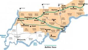 buffalo trace map